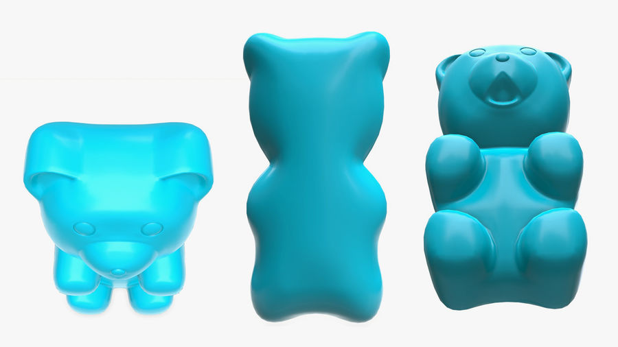 Gummy bear royalty-free 3d model - Preview no. 3