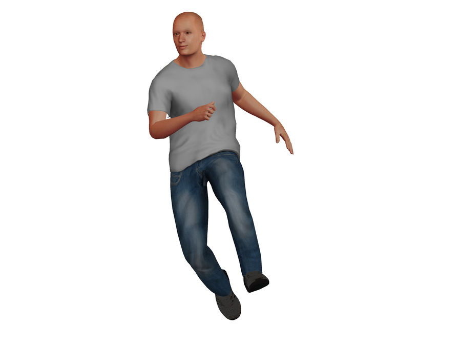 Bald Adult White Male royalty-free 3d model - Preview no. 6