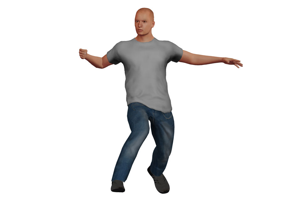Bald Adult White Male royalty-free 3d model - Preview no. 3