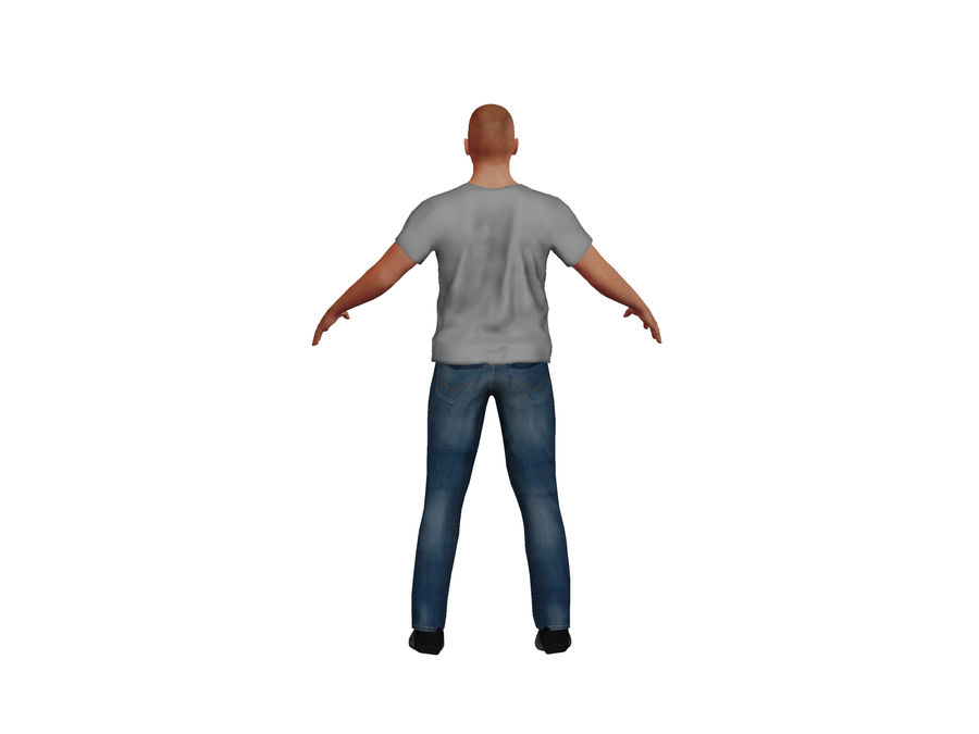 Bald Adult White Male royalty-free 3d model - Preview no. 5