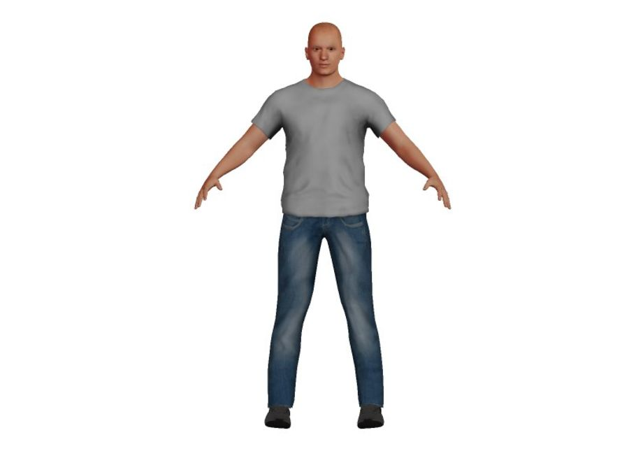 Bald Adult White Male royalty-free 3d model - Preview no. 2