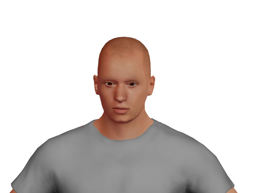 Bald Adult White Male royalty-free 3d model - Preview no. 4