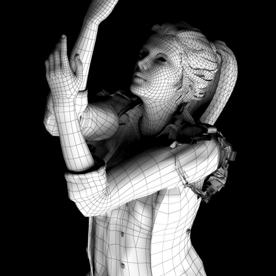 Kvinnlig karaktär royalty-free 3d model - Preview no. 4