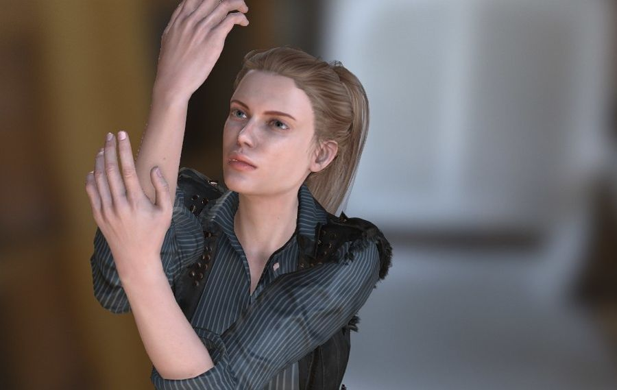 Kvinnlig karaktär royalty-free 3d model - Preview no. 6