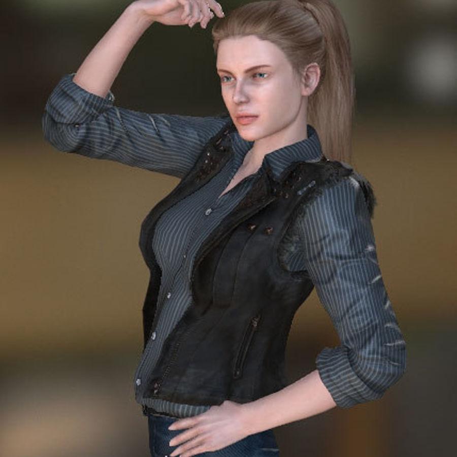 Kvinnlig karaktär royalty-free 3d model - Preview no. 2