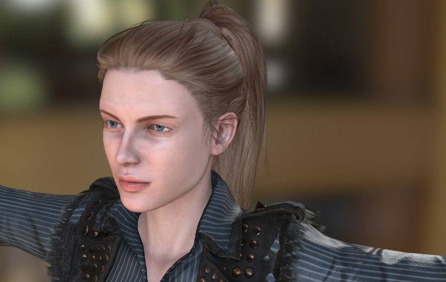 Kvinnlig karaktär royalty-free 3d model - Preview no. 1