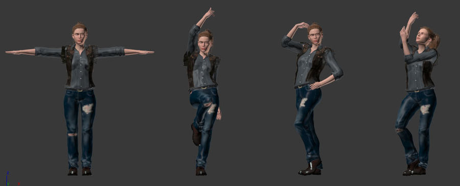 Kvinnlig karaktär royalty-free 3d model - Preview no. 5