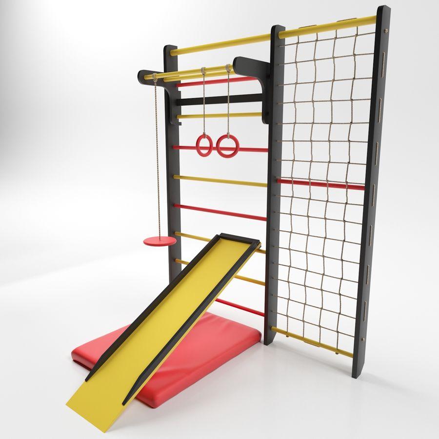 Ściana siłowni royalty-free 3d model - Preview no. 3