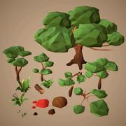 LowPoly NaturePack 3d model