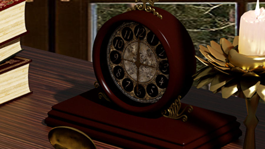 Horloge pour table royalty-free 3d model - Preview no. 5