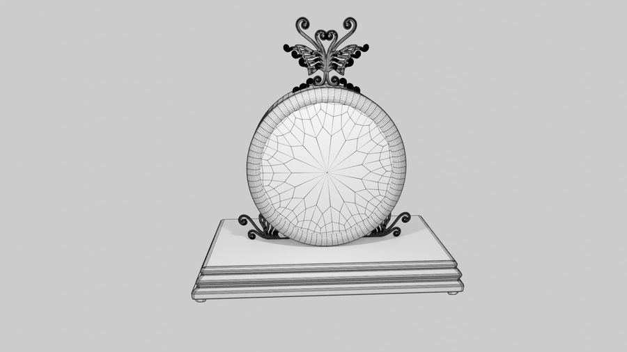 Horloge pour table royalty-free 3d model - Preview no. 13