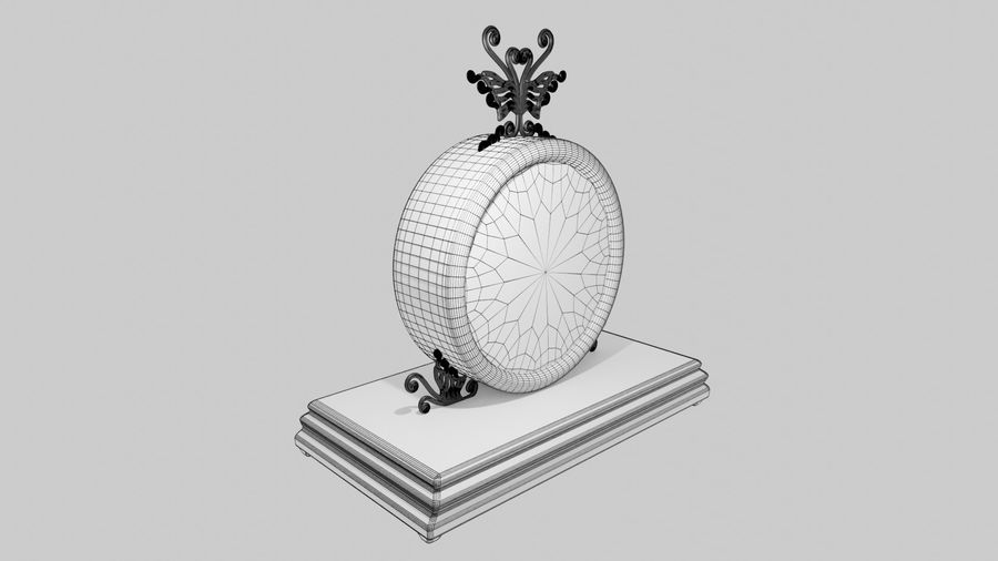 Horloge pour table royalty-free 3d model - Preview no. 9