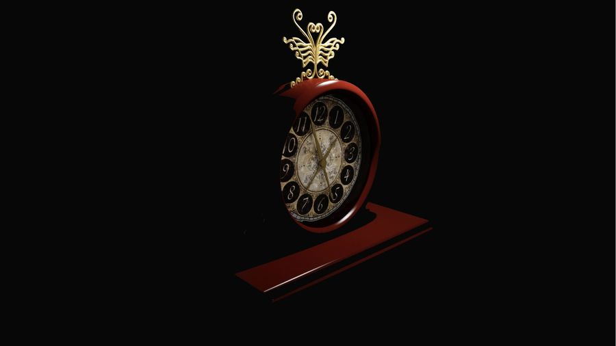 Horloge pour table royalty-free 3d model - Preview no. 8