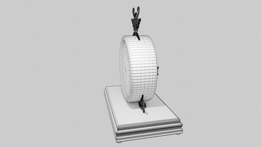 Horloge pour table royalty-free 3d model - Preview no. 10