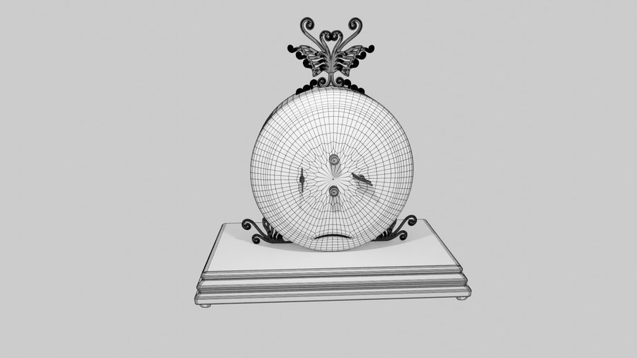 Horloge pour table royalty-free 3d model - Preview no. 11