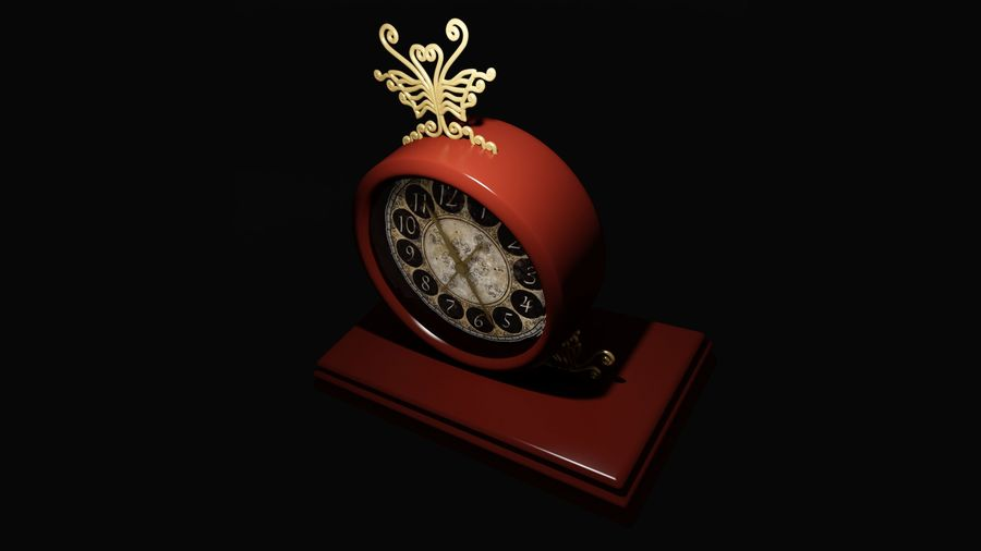 Horloge pour table royalty-free 3d model - Preview no. 7