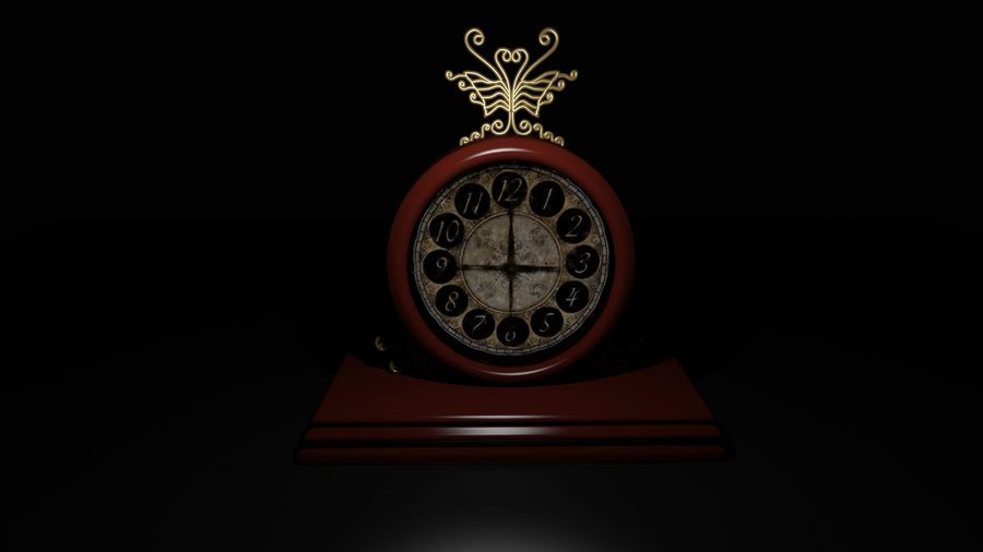 Horloge pour table royalty-free 3d model - Preview no. 4