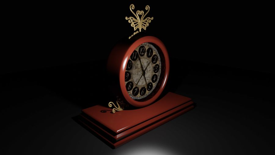 Horloge pour table royalty-free 3d model - Preview no. 2