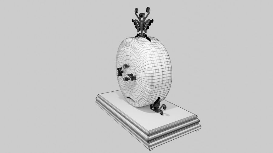 Horloge pour table royalty-free 3d model - Preview no. 12