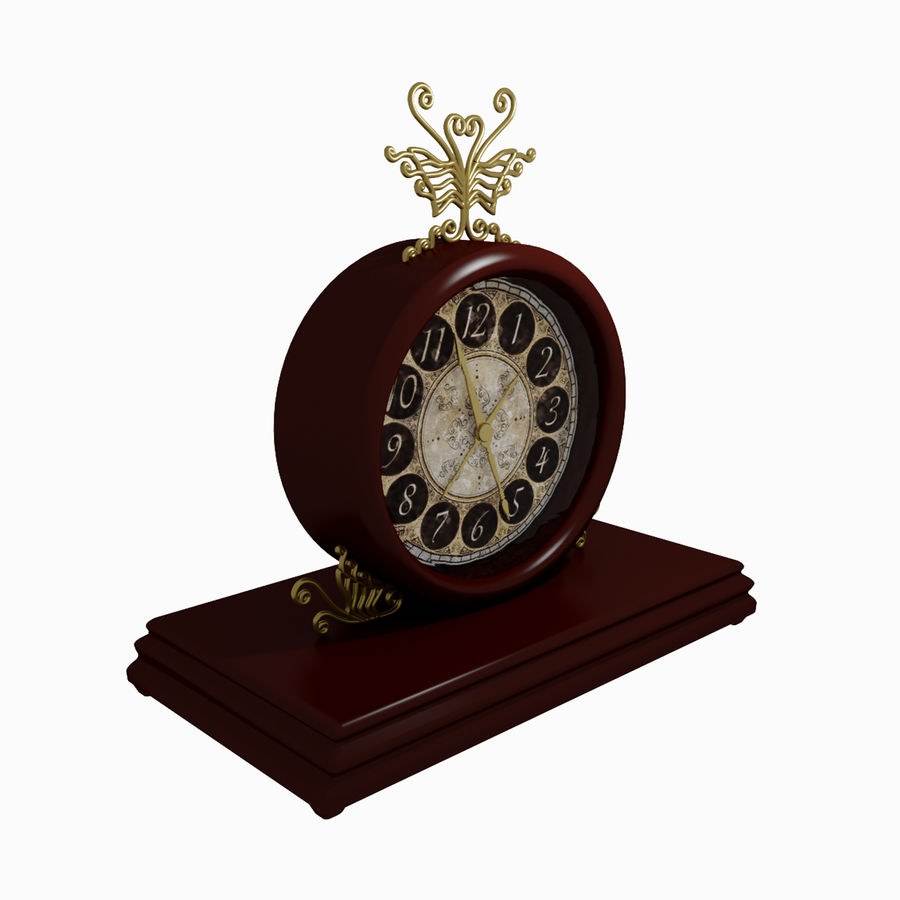 Horloge pour table royalty-free 3d model - Preview no. 1