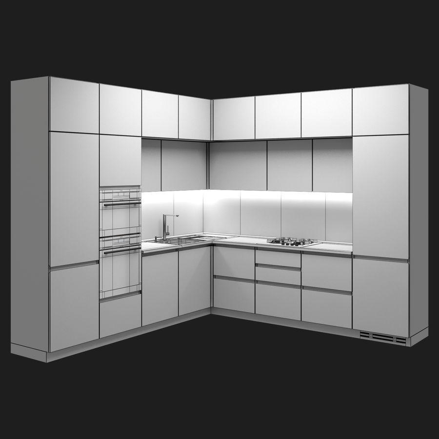 Corner Kitchen royalty-free 3d model - Preview no. 6