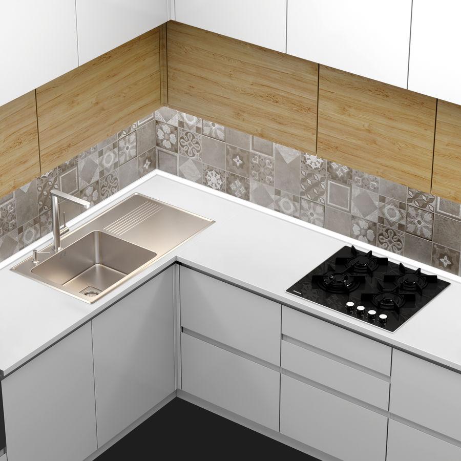 Corner Kitchen royalty-free 3d model - Preview no. 5