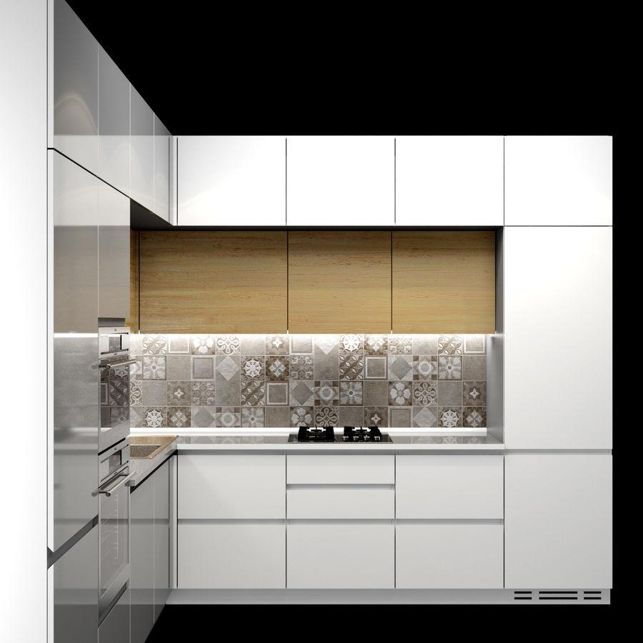Corner Kitchen royalty-free 3d model - Preview no. 2
