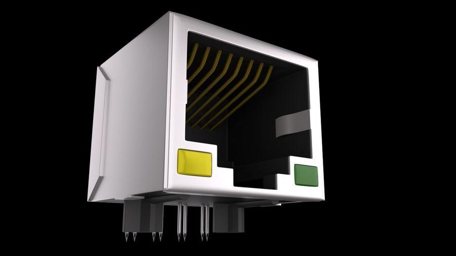 Puerto RJ45 Ethernet royalty-free modelo 3d - Preview no. 1