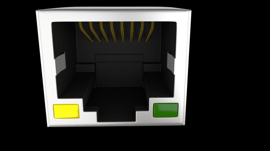 Puerto RJ45 Ethernet royalty-free modelo 3d - Preview no. 3