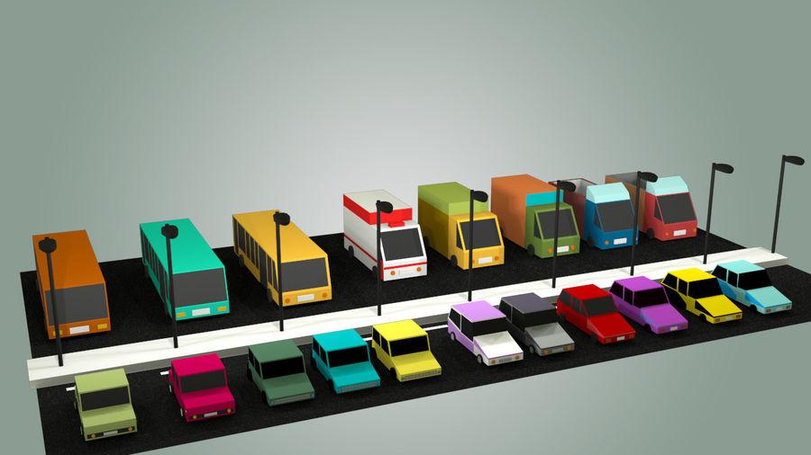 Paquete de vehículos royalty-free modelo 3d - Preview no. 3