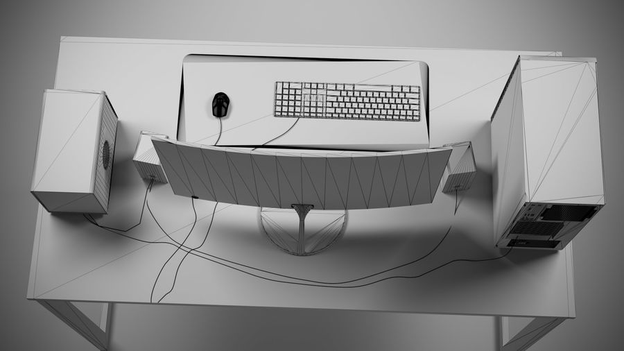 PC - stationär dator royalty-free 3d model - Preview no. 5