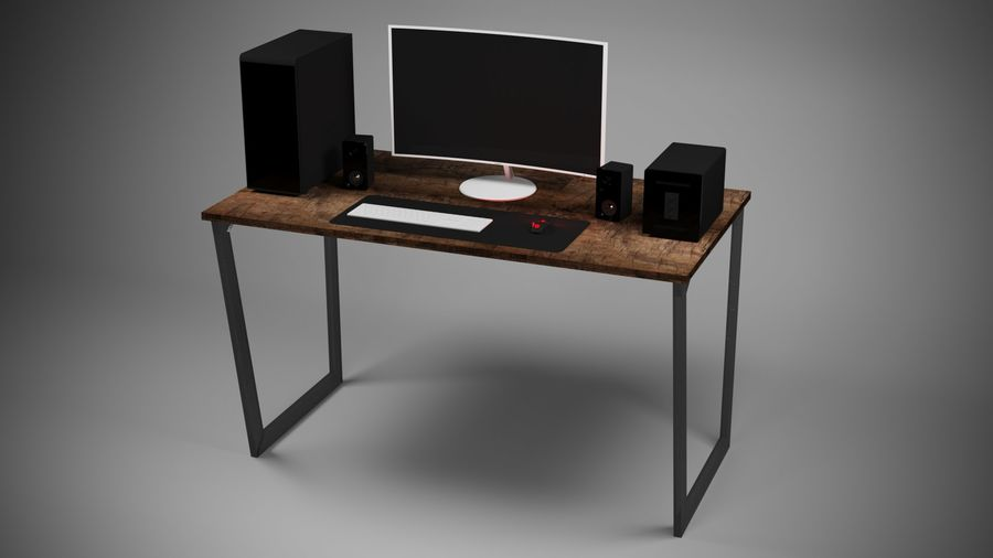 PC - stationär dator royalty-free 3d model - Preview no. 3