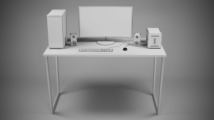 PC - stationär dator royalty-free 3d model - Preview no. 4