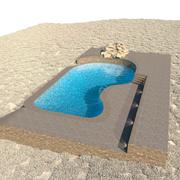 Duży basen 3d model