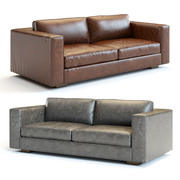 Canapé en cuir Maddox 3d model