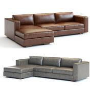 Canapé composable en cuir Maddox 3d model