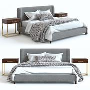 Keramik Scheune - Rochella Bed & Fitz Nighstand 3d model