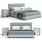 Baker Furniture - Tashmarine Bed White 3d model