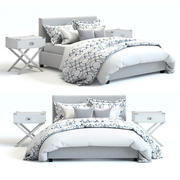 Pottery Barn - Raleigh Square Bed 3d model
