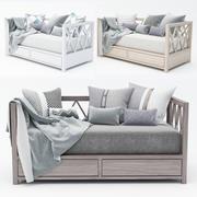 现代沙发 3d model