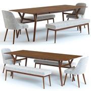 ウェストエルム-世紀半ばのテーブルと椅子 3d model
