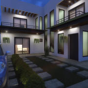 MAYAHUEL HOUSE door DOCE INGENIEROS ARQUITECTOS - AUTODESK REVIT 3d model
