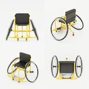 Fauteuil roulant paralympique. Équipement de sport pour les athlètes handicapés. 3d model
