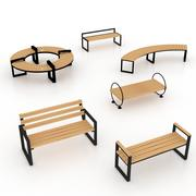 panchina del parco 3d model