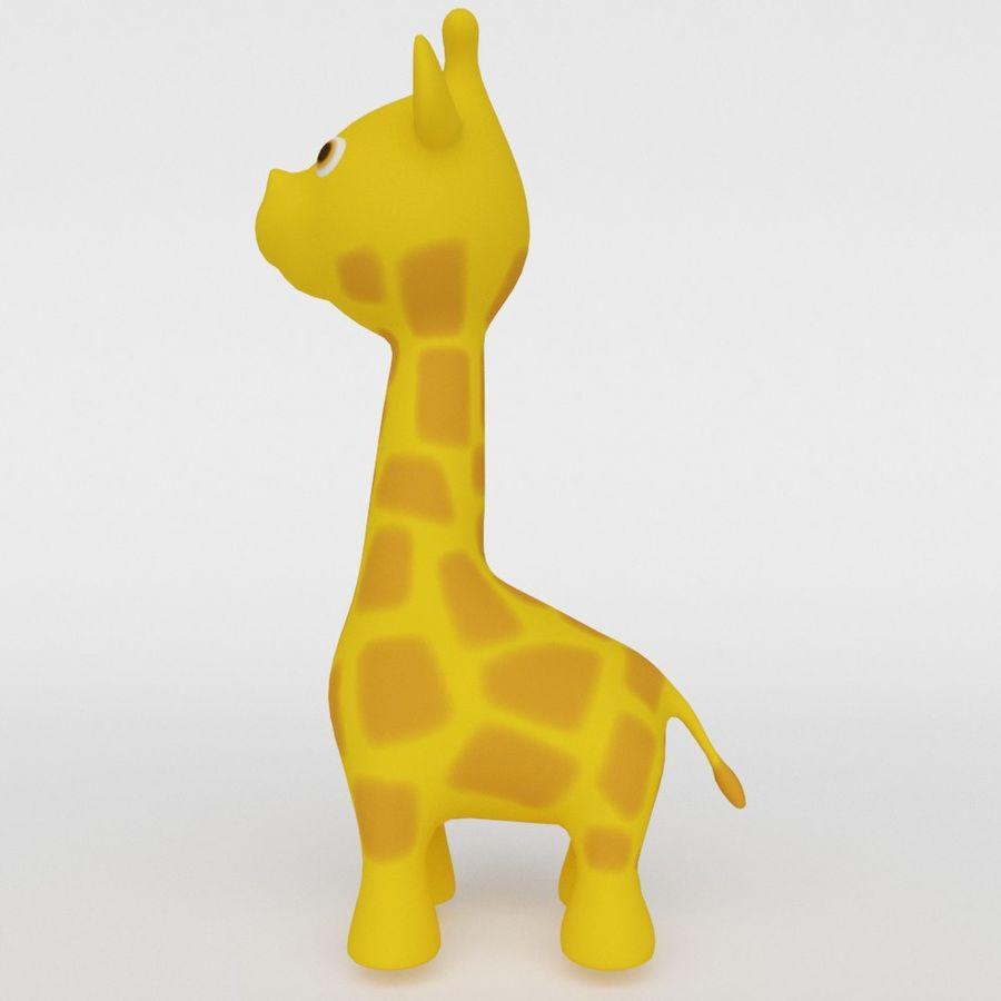 Giraffe Cute cartoon character royalty-free 3d model - Preview no. 3