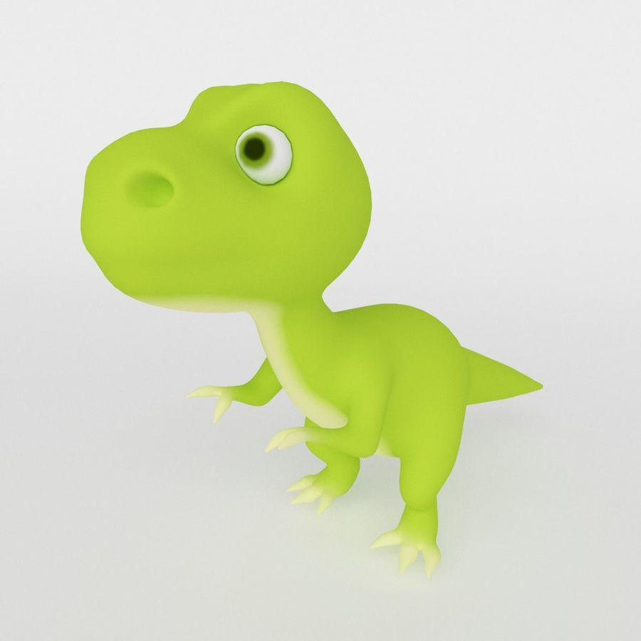 Dinosaur  Cute cartoon character royalty-free 3d model - Preview no. 1