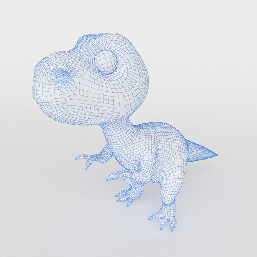 Dinosaur  Cute cartoon character royalty-free 3d model - Preview no. 5