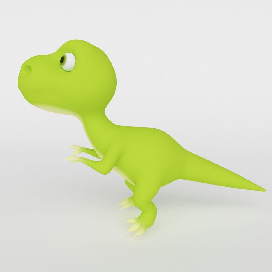 Dinosaur  Cute cartoon character royalty-free 3d model - Preview no. 2