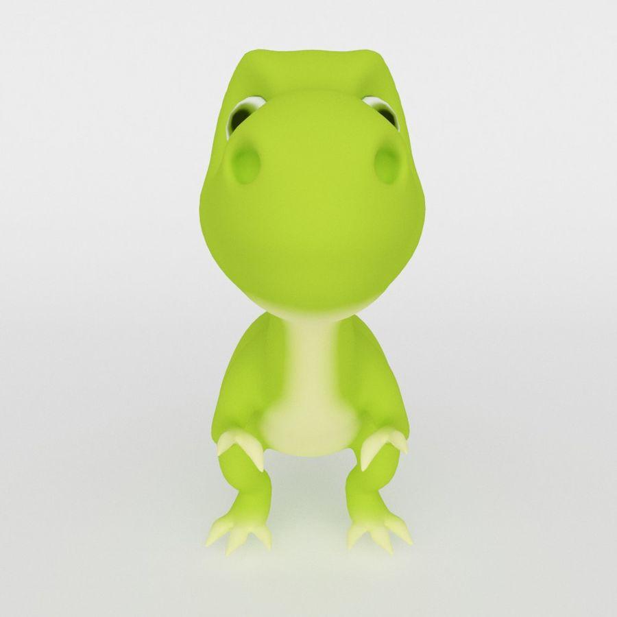 Dinosaur  Cute cartoon character royalty-free 3d model - Preview no. 3