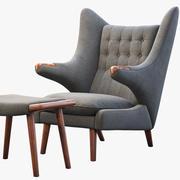 PP19 Papa Bear sandalye ve osmanlı 3d model